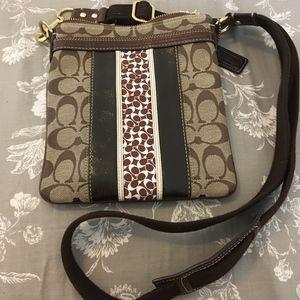 Brown Coach Cross Body Bag